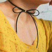Aukmla Bowknot Choker Necklace Jewellery for Women and Girls
