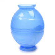 Kloud City ® Blue Colour Two-in-One Thickened Plastic Graded Salon Hair Colour Mixing Dyeing Shaking Bowl Shaker