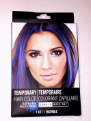 Electric Blue Temporary Hair Colour 1 Kit Comb In Wash Out 1 Colour Pack 15ml 1 Comb