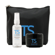 Top Secret Secret Hair Thickening Fibres - Pre-Application Grooming Cream and Finishing Spray *w/ Free travel bag