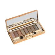 Kwok Eyeshadow,9 Colours Shimmer Eyeshadow Eye Shadow Palette & Makeup Cosmetic Brush Set