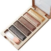 Kwok Eyeshadow,5 Colour Glitter Eyeshadow Makeup Eye Shadow Palette