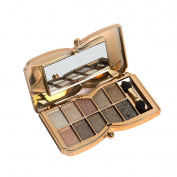 Kwok Eyeshadow,10 Colours Shimmer Eyeshadow Eye Shadow Palette Makeup Cosmetic Set