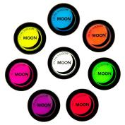 Moon Glow - Neon Blacklight Eye Shadow 5ml Sett of 8 colours - Glows brightly under UV Lighting!