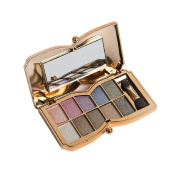 Fheaven 10 Colours Shimmer Eyeshadow Eye Shadow Palette Makeup Cosmetic Set