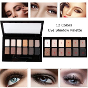 Biutee 12 Colours Naked Eye Shadow Palette Eyeshadow Shadow Shade for Eyebrows Makeup Set Nude Eyeshadow Palette