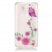 BLT® LG K8 Case, Pink Buterfly Patttern Case for LG K8 / LG Escape 3/ LG Phoenix 2 with a Phone Bracket
