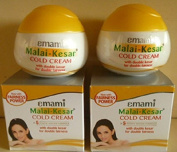 Emami 2 X Malai Kesar Cold Cream With Active Herbs Saffron For Double Fairness Cold Cream Pamper Your Skin With Malai Kesar Cold Cream In Winter (30Ml X 2 Pack) Ivory