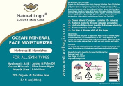 Natural Logix Ocean Mineral Face Moisturiser, Removes toxins from the cells, Hydrates & Nourishes the skin, Restores elasticity, Day & Night Use lotion, for Men & Women with all skin types. 100ml