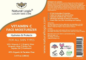 Natural Logix Vitamin C Face Moisturiser, POWERFUL Antioxidants 15% Vitamin C & Green Tea, Hydrating Jojoba Oil & Shea Butter, Day - After Sun - Night Use, for Men & Women with all skin types. 100ml