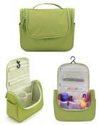 Yonger Nylon Hanging Toiletry Bag for Men Women Travel Kit Organiser Bathroom Storage Cosmetic Bag Toiletry Bag Green