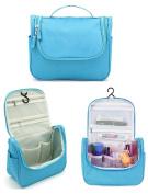 Yonger Nylon Hanging Toiletry Bag for Men Women Travel Kit Organiser Bathroom Storage Cosmetic Bag Toiletry Bag Blue
