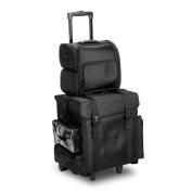 Professional Rolling Makeup Case, 2 Wheel 8 Drawer, Soft Nylon Storage Organiser Trolley