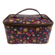 Hot sell Brown flower PU quality make up case