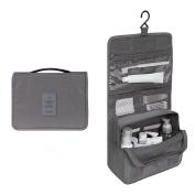 EtechMart Hanging Cosmetic Makeup Bag Carry Case Travel Kit Light Grey