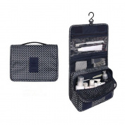 EtechMart Hanging Cosmetic Makeup Bag Carry Case Travel Kit Dark Blue