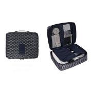 EtechMart Nylon Cosmetic Makeup Bag Carry Case Travel Kit Dark Blue