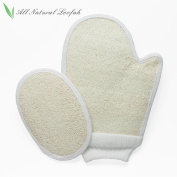 PARTYSAVING Gentle Exfoliating Shower Bath Body Scrubber Loofah Mitt and Pad Set, APL1351