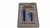 Diamond Vision 2PC Silicone Nail Clipper Set,