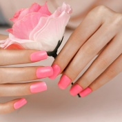 False Nails French Manicure Pink Rosa Long ArtPlus Full Cover Fake Nails with Glue