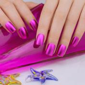 ArtPlus False Nails French Manicure Full Cover Fuschia Matt Medium Length with Glue