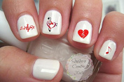 Music Note Red Black Nail Decal Musical Notes Nail Design