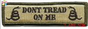 1piece 2.6*9.5cm DON'T TREAD ON ME Tactical Morale Patch with hook and loop