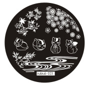 Nail Art Plates, Misaky Image Stamp Stamping Manicure Template Hehe Series 024