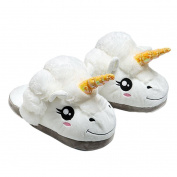 Sunward New Creative Cute Qq Expression Plush Home Indoor Slipper, Warm Antiskid Wool Slipper Shoes