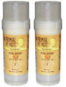 Primal Pit Paste Natural Deodorant Unscented Pack of 2