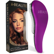 Le Beaute® Detangling Hair Brush - Best Professional Salon Quality Wet & Dry Brush For Tangles w/ No Pain - Great For Thick, Wavy, Curly, or Thin Hair on Women, Girls & Kids - Purple