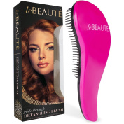 Le Beaute® Detangling Hair Brush - Best Professional Salon Quality Wet & Dry Brush For Tangles w/ No Pain - Great For Thick, Wavy, Curly, or Thin Hair on Women, Girls & Kids - Pink