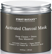 The BEST Charcoal Mask 260ml- Best for Facial Treatment, Minimises Pores & Reduces Wrinkles, Acne Scars, Blackheads & Cellulite - Safe for Use on Face & Body