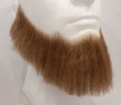 Full Character Beard LIGHT BROWN - 100% Human Hair - no. 2024 - REALISTIC! Perfect for Theatre and Stage - Reusable!