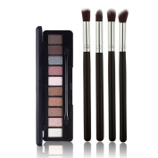 Ucanbe Matte Glitter Eye Shadow Palette Kit with 4pcs Professional Eyeshadow Brush Set