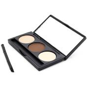 Orangeskycn Eyebrow Powder Eye Brow Palette Cosmetic Makeup Shading Kit Brush Mirror