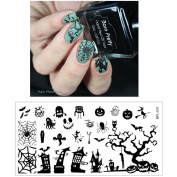 Born Pretty Nail Art Stamp Template Image Plate Halloween Theme BP-L031