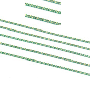 20m Green Twisted Cross Curb Chains Findings Fit for Jewellery Making & DIY