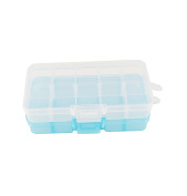 yueton 2 Pcs 10 Compartment Slot Adjustable Jewellery Bead Organiser Box Storage Container Case