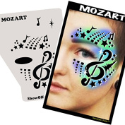 Face Painting Stencil - StencilEyes Profile Mozart