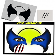 Face Painting Stencil - StencilEyes Claws