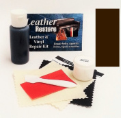 Air Dry Leather & Vinyl Repair Kit VERY DARK BROWN Colour Repair Restore Couch Car Jacket Furniture Shoes Purse