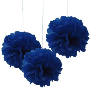 Hmxpls 10pcs Tissue Paper Pom-poms Flower Ball Wedding Party Outdoor Decoration deep blue