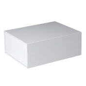 Jillson Roberts 24-Count Large Magnetic Closure Presentation Gift Boxes, White Gloss
