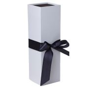 Jillson Roberts 24-Count Ribbon-Tie Wine and Bottle Gift Boxes, Sophisticate White Matte