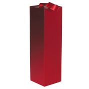 Jillson Roberts 24-Count Wine & Bottle Presentation Gift Boxes with Ribbon Handles, Red Gloss