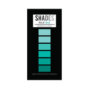 Tattered Lace Shades Teal Paper Pad - for Baby Blue