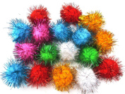 ALL in ONE Assorted Colour Glitter Sparkle Pom Poms for Craft DIY