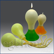 light Bulb -size small - 3d Soap/candle/polymer/clay/cold Porcelain Silicone Mould
