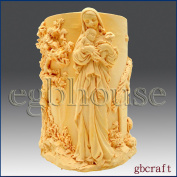 Madonna in Garden - 3d Soap/candle/polymer/clay/cold Porcelain Silicone Mould
